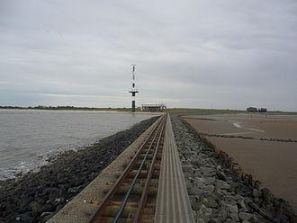 Minsener Oog - Image: Schmalspurbahn Buhne C