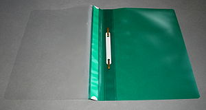 File folder - A file folder in open position.
