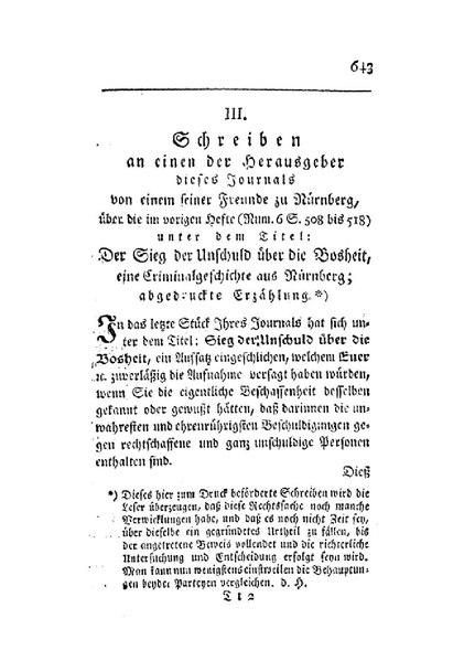 File:Schreiben an einen der Herausgeber dieses Journals von einem seiner Freunde zu Nürnberg, über die im vorigen Hefte unter dem Titel Der Sieg der Unschuld über die Bosheit abgedruckte Erzählung.pdf