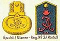 Schulterstücke, Ulanen-Regiment (1. Brandenburgisches) Nr. 3, Die Uniformen der deutschen Armee, Ruhl, Tafel 31.jpg