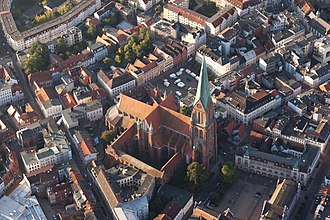 Schwerin Cathedral - Aerial view