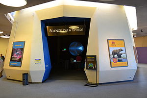 Lawrence Hall of Science - Image: Science on a Sphere exhibit at Lawrence Hall of Science