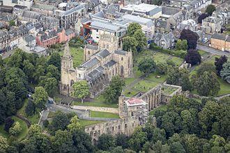 Dunfermline - Image: Scotland 2016 Aerial Dunfermline Abbey