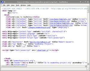 Screenshot of SeaMonkey 2.1a2: window showing ...