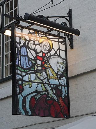 The George Inn, Southwark - Image: Secondary sign outside the George Inn, Southwark