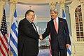 Secretary Kerry and Greek Foreign Minister Venizelos Shake Hands (11999477125).jpg