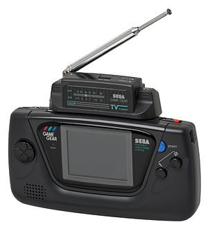 Game Gear - A Game Gear with TV Tuner plugged in