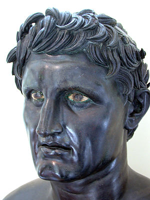 Seleucus I Nicator (bronze). Roman copy from a...