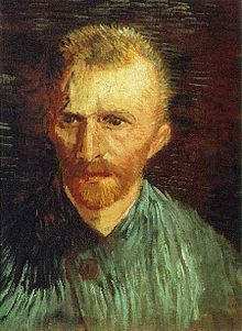 Impressionist portrait painting of a man with a reddish beard who looks like Kirk Douglas