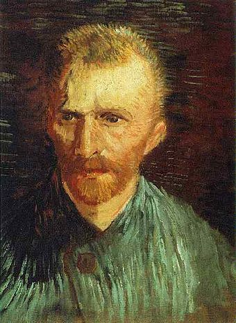 Self portrait by influential Dutch painter Vincent van Gogh. Self-Portrait9 Van Gogh.jpg