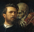 Self-portrait with Death as a Fiddler (Arnold Böcklin), detail.png