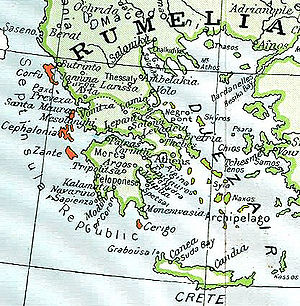 Septinsular Republic - The Republic's territory extended to the seven main islands plus the smaller islets of the Ionian Sea