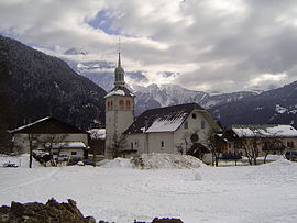 The church in Servoz