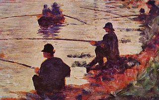 Les Pêcheurs à la ligne, étude pour la Grande Jatte