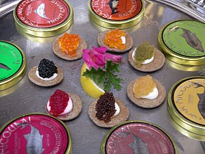 Superior good - Image: Seven types of caviar