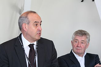David Hanson (politician) - Hanson (left) speaking to Policy Exchange in 2013