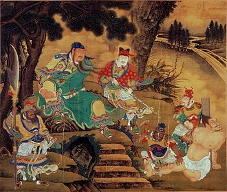 Guan Yu - Guan Yu captures Pang De, as depicted in a Ming dynasty painting by Shang Xi, c. 1430.