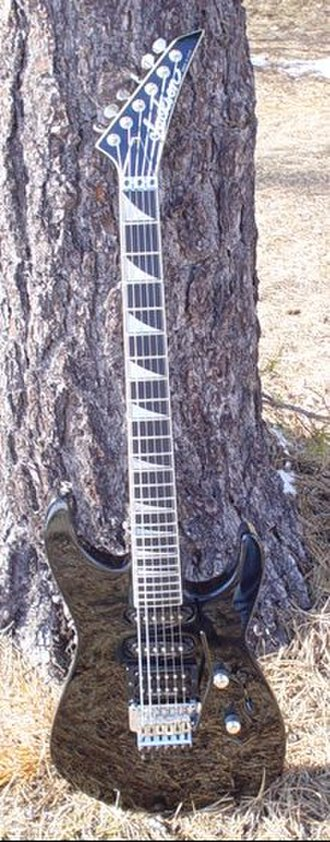 """Jackson Soloist - This is a 1998 """"Shannon"""" Soloist. A limited production 'reissue; of sorts hand signed by luthier Mike Shannon."""