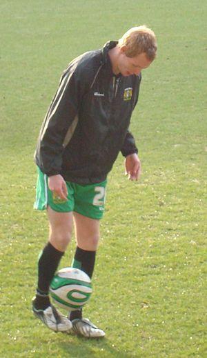 Shaun MacDonald - MacDonald warming up for Yeovil Town, 2010