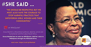 She Said campaign with Graca Machel quote.jpg