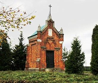 Prylbychi - Image: Sheptytsky family tomb in the village Prylbychi (1937)