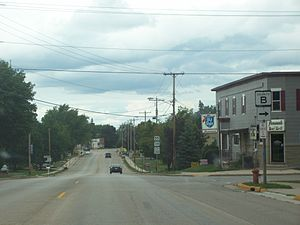 Sherwood, Wisconsin - Looking north down WIS-55/WIS-114.
