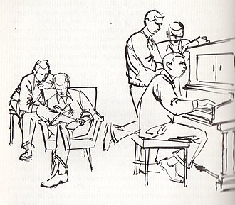 Student affairs - Idealized depiction of student life from a 1960 Shimer College handbook