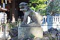 Shirahata Tenjinsha - Guardian lion-dog 1.jpg