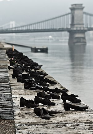 Shoes on the Danube Bank - The memorial.