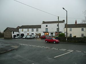 Frampton Cotterell - Dullage- The row of shops at the Frampton End Road/Church Road junction, believed to be the site of a Roman settlement in the village