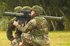 Mk 153 Shoulder-Launched Multipurpose Assault Weapon (SMAW) - SMAW being used by U.S. Marines