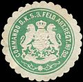 Siegelmarke Commando des K.S. 3. Feld Artillerie Regiments No. 32 W0283749.jpg