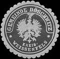 Siegelmarke Gemeinde Döschwitz Kreis Weißenfels W0383355.jpg