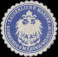 Siegelmarke K. Marine Kommando S.M.S. König Wilhelm W0337628.jpg