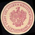 Siegelmarke Magistrat der Koeniglichen Universitäts Stadt Erlangen W0229205.jpg