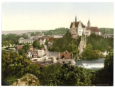 The Sigmaringen operation was based in the city's ancient castle. Sigmaringen schloss.jpg