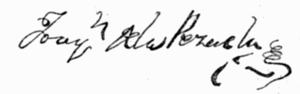 Joaquín de la Pezuela, 1st Marquis of Viluma - Image: Signature J Pezuela