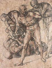 Studie zu vier nackten Männern