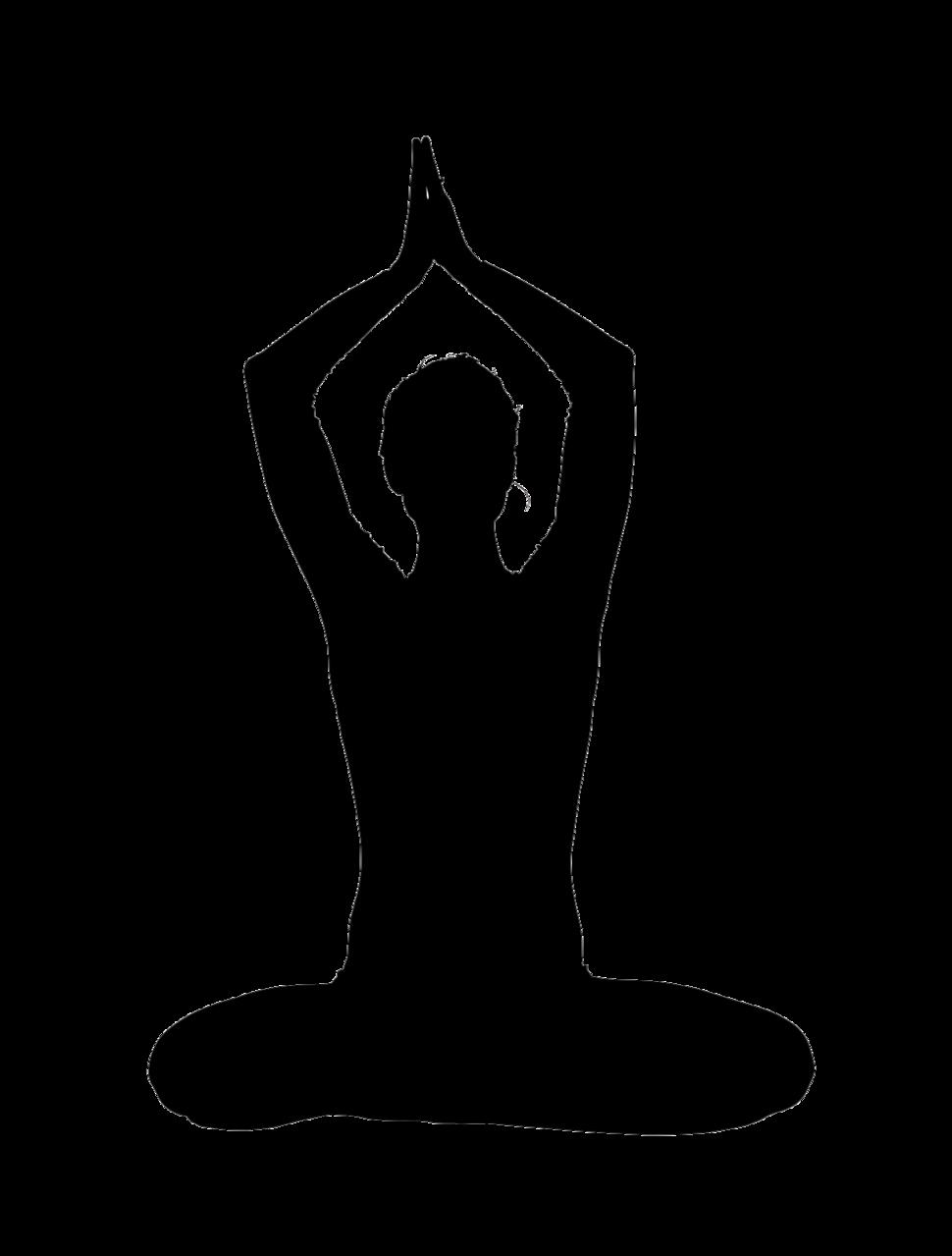 Silhouette yoga