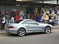 Silver Mercedes-Benz SL Type R230 in Dar es Salaam.jpg