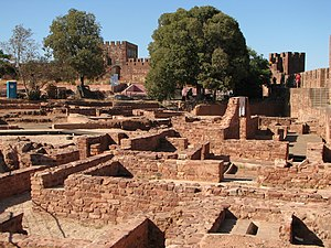 Portugal - Silves Castle, a Moorish-era fortification in the Algarve