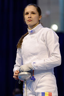 Simona Pop Romanian fencer