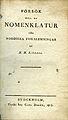 Sjöborg, Försök till en nomenklatur för nordiska fornlemningar (1815) titelblad.jpg