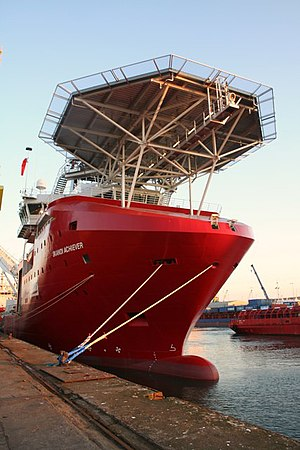 Diving support vessel - CSV Skandi Achiever in Aberdeen