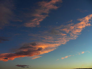 A picture of the Colorado sky I took outside my back porch on December 5th. it was near sunset