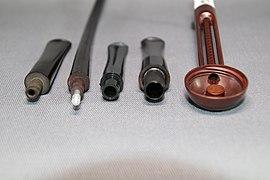 Smoking pipe filter types