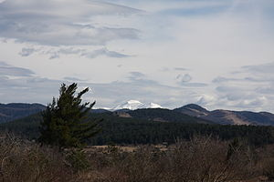 Snežnik (plateau) - Snežnik from Palčje