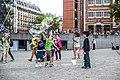 Soap bubble, Place Georges-Pompidou, Paris 16 August 2015.jpg