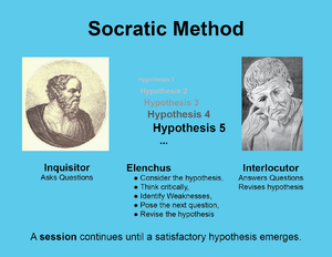 an example of the socratic method Pedagogy in action  library  socratic questioning  socratic questioning  annotated example of socratic questioning for topics  teaching with the case method.