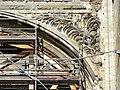 Soissons (02), abbaye Saint-Jean-des-Vignes, abbatiale, nef, tribune occidentale, écoinçon.jpg